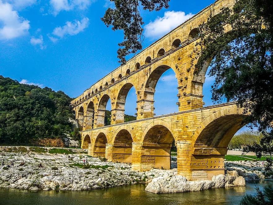 A Római Birodalmat behálózó csatorna-viaduktok egy része még ma is áll